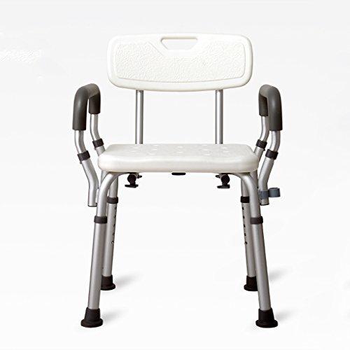 LXN Deluxe höhenverstellbare Aluminium Badewanne/Duschstuhl mit Rücken- und Duschkopf Halter-Anwendbar für ältere Menschen, Schwangere Frauen, Behinderte (größe : B) -