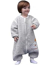 babySchläfsack langarm winter kinderSchlafsack,Hund mit Füßen Baumwolle Junge Mädchen unisex ganzjahres Schlafanzug .Neugeborene pyjama/overall /Strampler。(80cm.90cm,100cm.0-4 Jahre )。