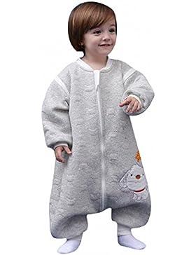 Schläfsack baby winter pyjama kinderSchlafsack,Hund mit Füßen Baumwolle Junge Mädchen unisex ganzjahres Schlafanzug...