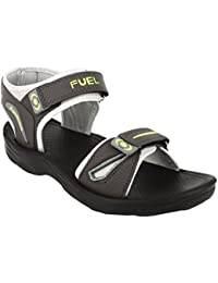 FUEL Men's Grey Green Double Closure Casual Sandals & Floaters For Boy's