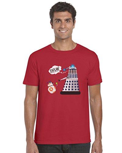 Erklärung!? Unisex-T-Shirt inspiriert von Star Wars und Dr Who Gr. XX-Large, Red,XX-Large,Red,XX-Large