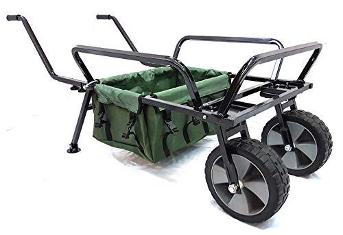 Generic Chariot de pêche pour abri de pêche avec Sac de Barrow et Sac de pêche très résistant