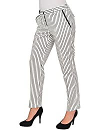 Marina Yachting Hose Damen Weiss Schwarz Baumwolle Regular Fit 42 IT