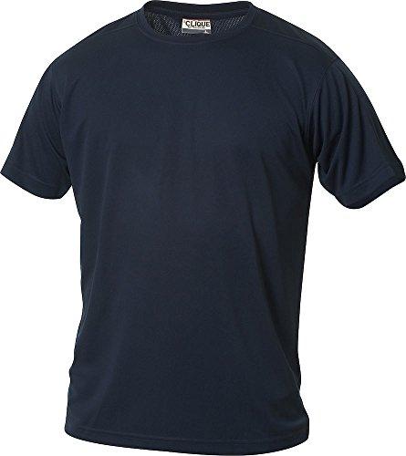 CLIQUE - Maglietta sportiva da uomo in poliestere. Tessuto traspirante, in 10 colori, taglie S M L XL XXL XXXL XXXXL Blu - blu navy