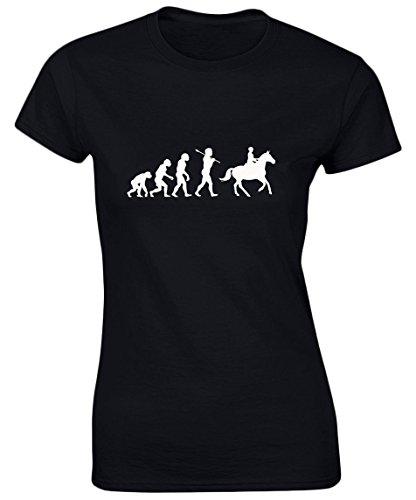 swagwear Horse Riding Evolution Evo Funny Riding Equestrian Womens T-Shirt 8 Colours by