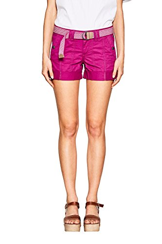 edc by ESPRIT Damen Shorts 037CC1C006, Rosa (Dark Pink 650), 38
