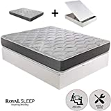 ROYAL SLEEP - Pack Descanso colchón viscoelastico Ceramic Plus 135x190 y canape...