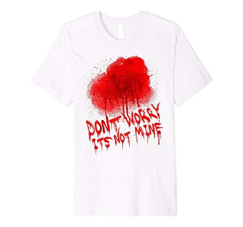 Happy Halloween Tshirt mit Blood Splatter und Funny Text