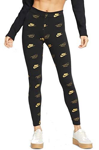 Nike Damen Leggings AOP Shine BFF, Black, XL