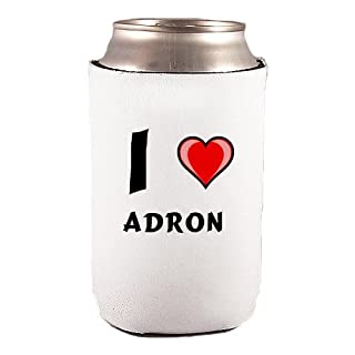 Custom Beverage Can / Bottle Cover (Coolie) with I Love Adron (first name/surname/nickname)