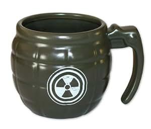 Tasse Handgranate Z-517 - grün, aus Keramik, mit Aufdruck, Füllmenge: 350 ml.
