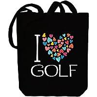 Idakoos I love Golf colorful hearts - Sport - Bereich für Taschen