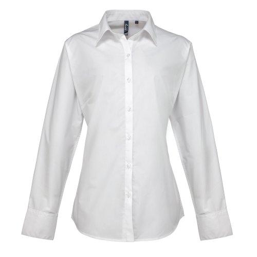 Premier - Chemiser à manches longues - Femme Blanc