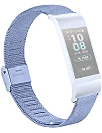 Dkings für Huawei Band 3 / 3Pro All-in-One-Fitness-Aktivitäts-Tracker, Band 3 / 3Pro Smart Fitness-Aktivitäts-Tracker, Metal Wristband Ersatzband für Huawei 3 / 3PRO Smart Watch (Sky Blue)