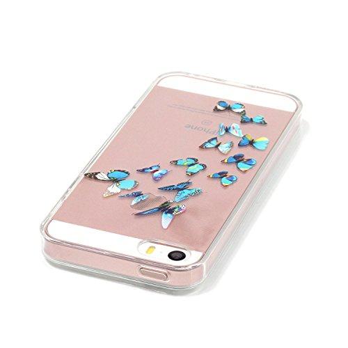 Coque iPhone SE, MOONCASE iPhone 5s Etui Ultra Mince Coque Housse Silicone Parfait Cover Case avec Absorption de Choc pour iPhone SE / 5S / 5 - YX08 Série Fantasy - YX01