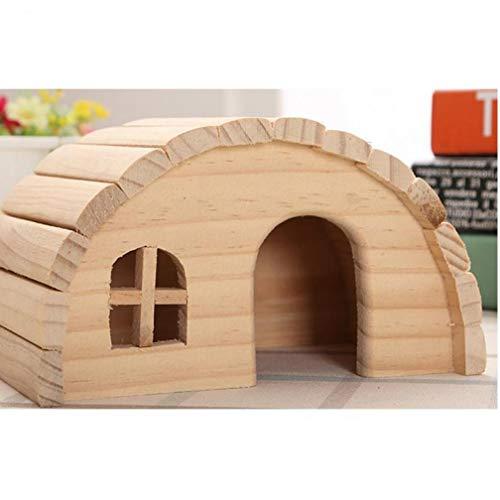 Pet Hamster Holzhaus Eichhörnchen Haus- Totoro Nest Gerbil Chalet Mäuse Hideout Ratte Maus Käfigzubehör (Ratte Versorgt Haustier)