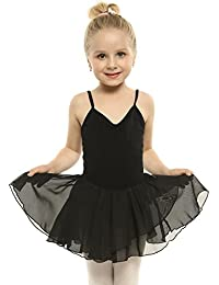 ARSHINER Vestido Niña Ballet de Gasa Sin Mangas Maillot de Baile de 4-11 Años