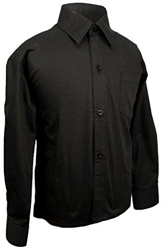 Festliches Kinderhemd Jungenhemd schwarz Gr. 14