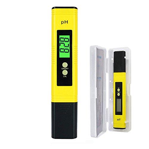 GreenKit PH-Meter mit LCD-Anzeige, PH-Wert, Wasser Tester Groß für Chemie,Trinkwasser, Garten, Bauernhof, Rasen, Indoor & Outdoor mit ATC und Hohe Genauigkeit - 0,00~14,00 Messbereich