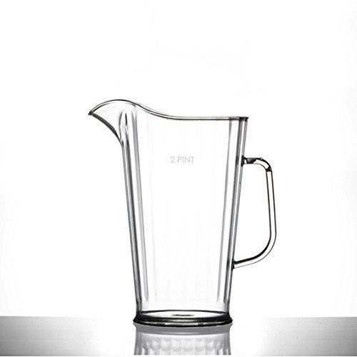 1.7L Reusable Plastic Stackable Pitcher Jug Unbreakable Dishwasher Safe Pimms Cocktail Water Jug