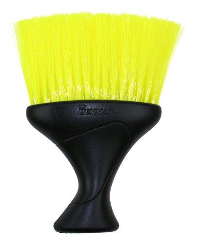 Denman D78 - Brocha para la nuca, color negro con cerdas amarillas