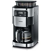 Severin KA 4810 Kaffeemaschine (1000 Watt, 1,4 L, Automatische Abschaltung) Edelstahl gebürstet/schwarz