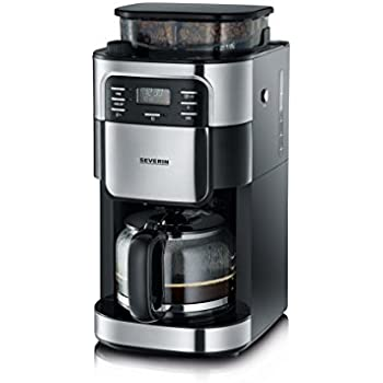 severin ka 4810 digital filter coffee maker with integrated grinder 1 4 litre 1000 w brushed. Black Bedroom Furniture Sets. Home Design Ideas