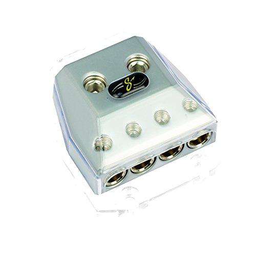 Stinger HPM Series Power oder Ground Distribution Block mit Satin Chrom Finish Stinger-distribution Blocks