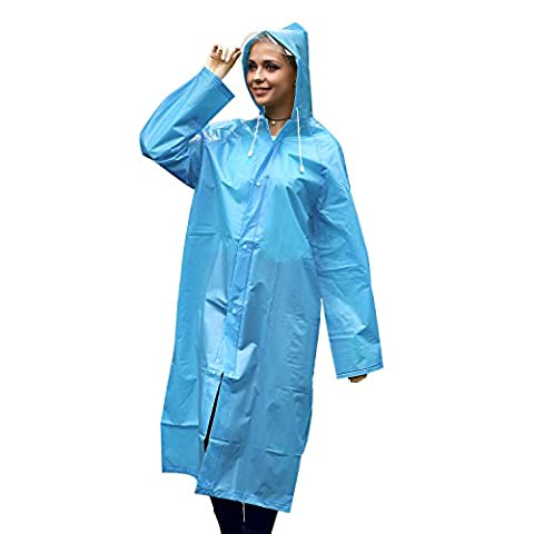 Poncho Pluie Homme, Unigear Poncho de Pluie Femme Imperméable Transperant avec Capuche Epaississement en EVA pour Camping Randonnée Cyclisme Activité en Plein Air (XL-Bleu)