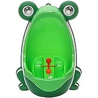 Urinoir pour bébé - En forme de grenouille - Parfait pour aider les mamans qui apprennent à leur enfant à aller aux toilettes - Pour salle de bain - Vert