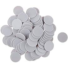 100pcs x Juego de Mesa Chips de Monedas Plásticas Casino Poker Chips Poker Arte Bricolaje 25mm