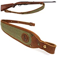 "Original Power Eslinga de Rifle de Cuero, Correas de Pistola de Escopeta de Lona Encerada con giratorios de Eslinga de desmontaje rápido de 1"" (Verde)"