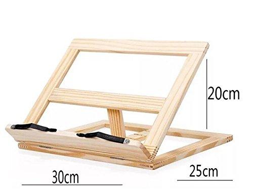 Mikro Holz Einstellbare Ideal für Buch Laptop Ständer Tablet Lesen Rest Halter (wie gezeigt) Landschaftsdekoration -