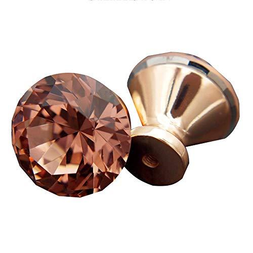 Behandeln K9 Kristallglas Knöpfe 6 Teile-satz 30 MM Gehobene Klare Geometrische Rhombische Schnitt, Schrank Schrank Kommode Schrank Schublade Griffe + Schrauben, einzeln Verpackt Moderne Inneneinricht -