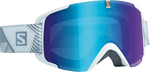 Salomon Xview - Gafas de esquí, color blanco (universal mid blue)