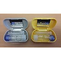 Kit de Viaje Amarillo de Estuche con Espejo & Ventosa de Succión RGP para Lentes de Contacto Rígidos RGP
