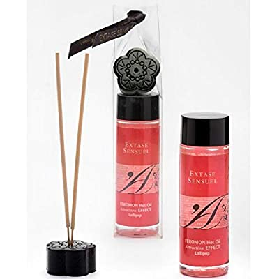 Falcon Huile de Massage Chauffant Feromon Extase Sensual Au Parfum de Lollipop, Aphrodisiaque, 100 Ml 100 ml