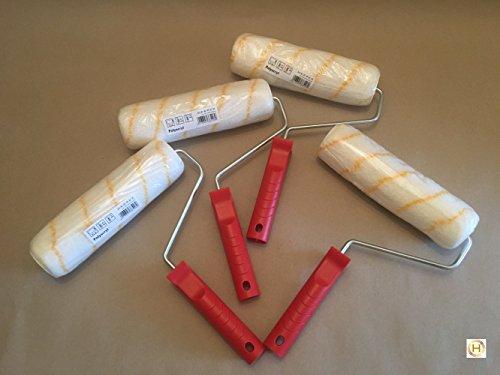 Farbroller Walze Gelbfaden Maler Roller 21cm Set (4 Stück)