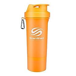 SmartShake 500 ml/18 oz, orange Slim neon, 1er Pack