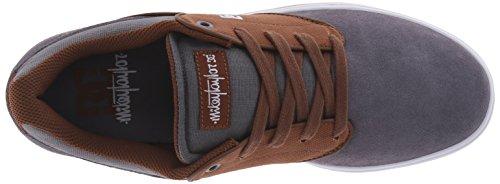 DC Men's Mikey Taylor Skate Shoe, Black/Gum, 10.5 M US Carbone/Bianco