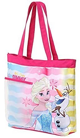 Borsa de spiaggia - Shopper per bambine Frozen 'Summer' Rosa/blu 33cm