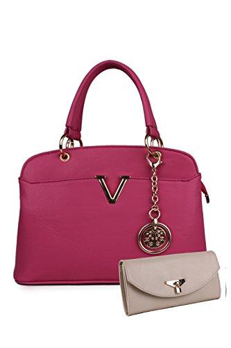 CLASSIC FASHION Women's PU Handbag (Pink)