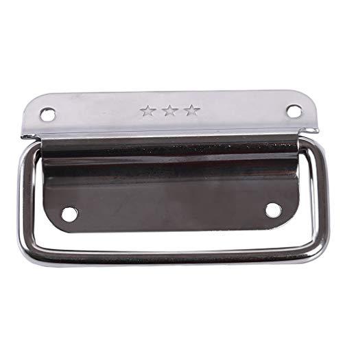 10 Schublade Breite Brust (LnLyin Edelstahl Werkzeugkoffer Knob Pull Hasp Gepäckschloss Industrielle Verschluss Ausrüstung Schnalle, 10 * 6 cm)