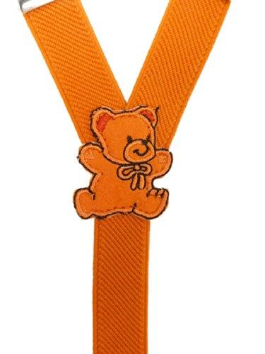 Bretelles entièrement réglable pour Bébés 0-2 ans avec Ours En Peluche conception Orange