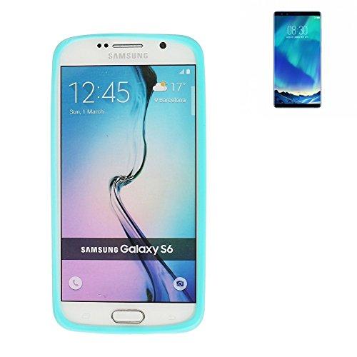 Für Nubia Z17S Silikon Bumper aus TPU Türkis / Blau Schutzrahmen Schutz Ring Smartphone Case Hülle Schutzhülle für Nubia Z17S - K-S-Trade (TM)