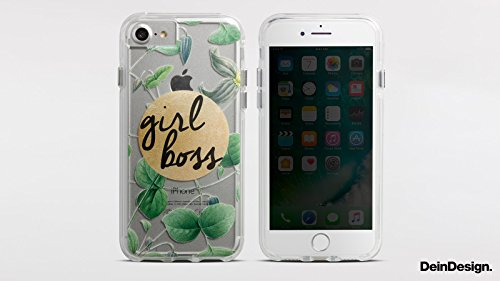 Apple iPhone 7 Bumper Hülle Bumper Case Glitzer Hülle Kaffee Coffee Sayings Bumper Case transparent