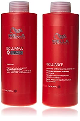 Wella Professionals Brilliance shampoo and conditioner Fine/Normal 1000ml by Wella Professionals