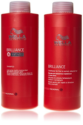 Wella Professionals Brilliance shampoo and conditioner Fine/Normal 1000ml