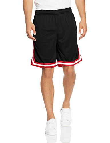 Urban Classics Herren Stripes Mesh Shorts Mehrfarbig (blkredwht 57)