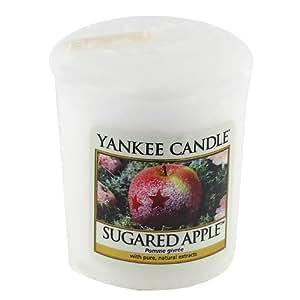 Yankee Candle 1244684E Bougie Votive Pomme Sucrée Blanc